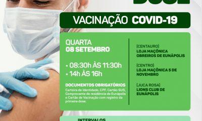 Vacinação contra a Covid-19: apenas segunda dose será aplicada nesta quarta-feira 42