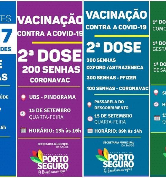 Porto Seguro: Cronograma de Vacinação contra a Covid-19 (15 de SETEMBRO) 91