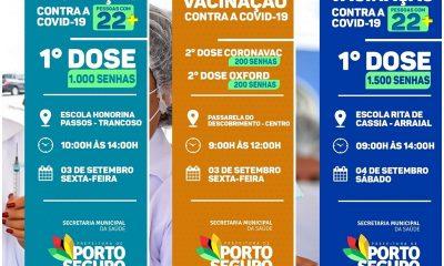 Porto Seguro: Cronograma de Vacinação contra a Covid-19; 03 e 04 de Setembro 43