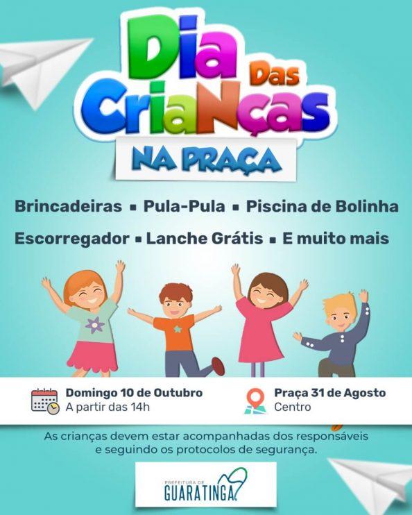Prefeitura de Guaratinga realiza evento para comemorar Dia das Crianças neste domingo (10) 23