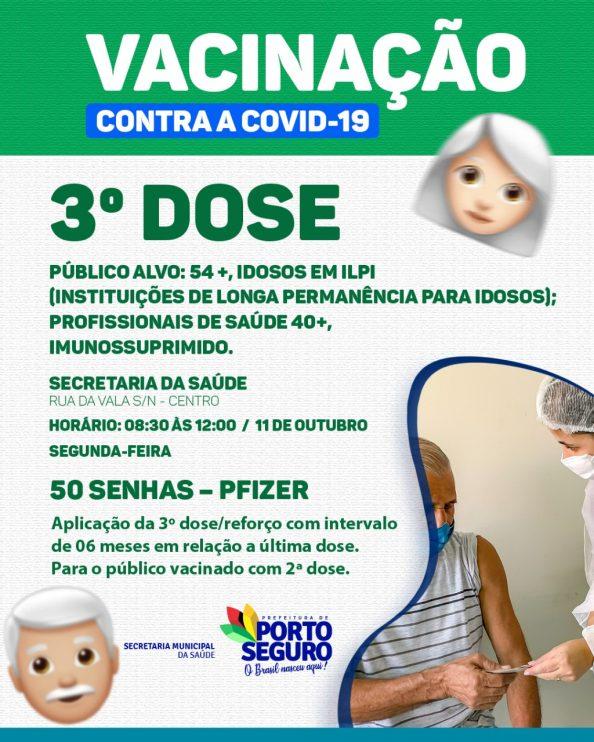 Porto Seguro: Cronograma de Vacinação contra a Covid-19; de hoje 11/10 29