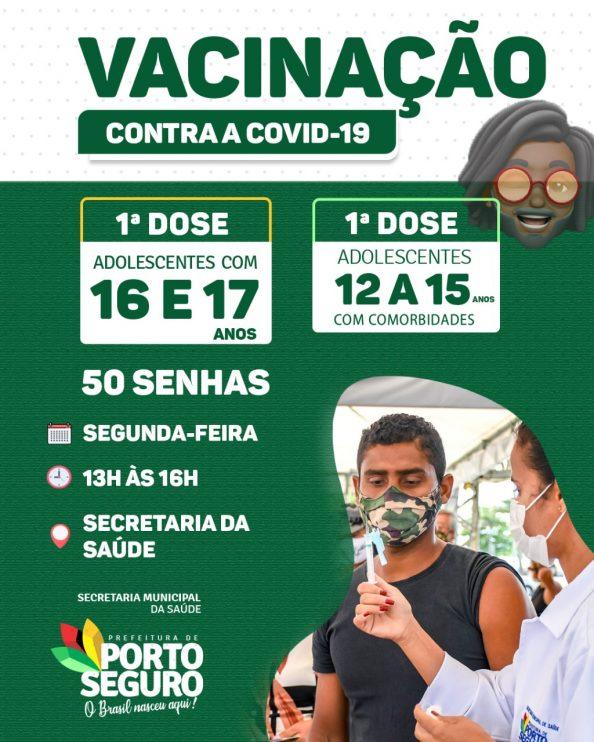 Porto Seguro: Cronograma de Vacinação contra a Covid-19; de hoje 11/10 28