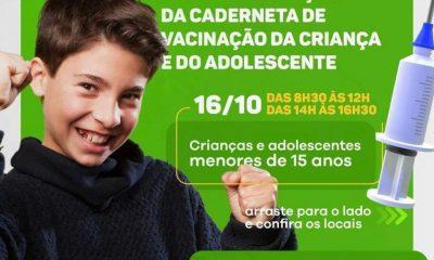 Dia de intensificação da Campanha de Multivacinação para Crianças e Adolescentes acontece neste sábado 27