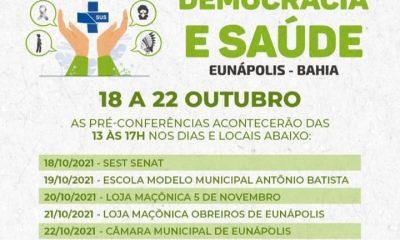 Pré-conferências de saúde acontecem de 18 a 22 de outubro em Eunápolis 5