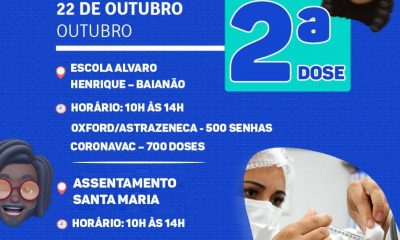 Nesta Sexta Feira - Segunda dose Covid-19 em Porto Seguro 19