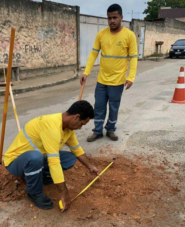 """Prefeita Cordélia Torres acompanha início da megaoperação """"Tapa-Buracos"""" no bairro Juca Rosa 23"""