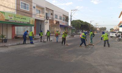 Eunápolis: ação de intensificação de limpeza urbana atende Avenida Norte Sul 27