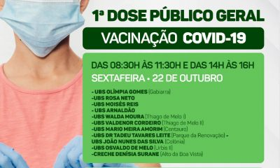 Eunápolis vacina adolescentes de 12 a 17 anos em diversos pontos de imunização nesta sexta-feira 22